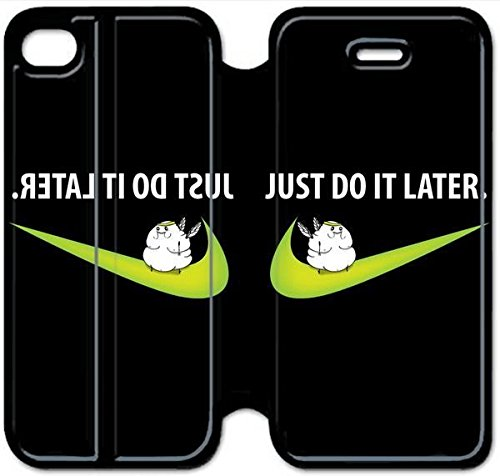 Leather Smart Cover With Flip Stand Phone Case iphone 4 4s-Just Do It Nike-28