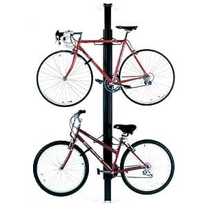 Gear Up Floor to Ceiling Aluminum Bike Rack Black