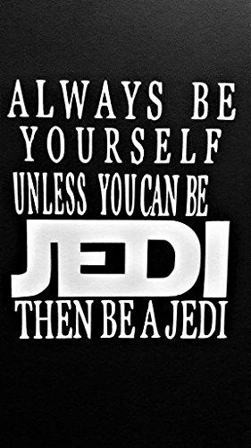 Skywalker Vinyl - Star Wars Inspired Jedi Luke Skywalker Yoda Vinyl Decal Sticker|WHITE|Cars Trucks Vans SUV Laptops Wall Art|5.25