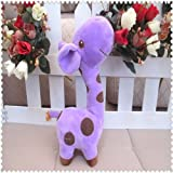 DDStore 1 Purple Color Cartoon Doll Plush Giraffe Sika Deer Stuffed Toys