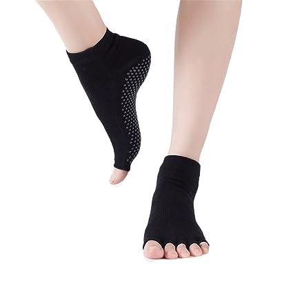 FuweiEncore Calcetines de yoga abiertos Calcetines de tobillo transpirables Calcetines de tobillo, paquete de 3