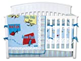 Trend Lab Dr. Seuss 4 Piece Crib Bedding Set, One Fish Two Fish