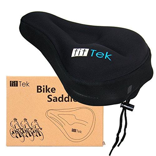 Bike Saddle, Bike Seat fitTek Comfortable Gel Bike Seat Cushion Cover for Kids, Mountain Bike MTB, Road Bike and More