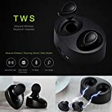 True Twin Bluetooth Wireless Sport Headphones Dual Bluetooth V4.1 with Built-in Mic, Noise Cancellation and Portable Charging Case for Iphone, Samsung, Android (Black & White) - Premium Tech Online