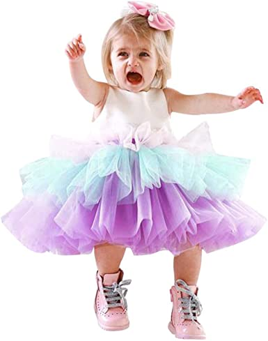 Amazon Com Sszzoo Toddler Kids Baby Girls Tutu Sleeveless