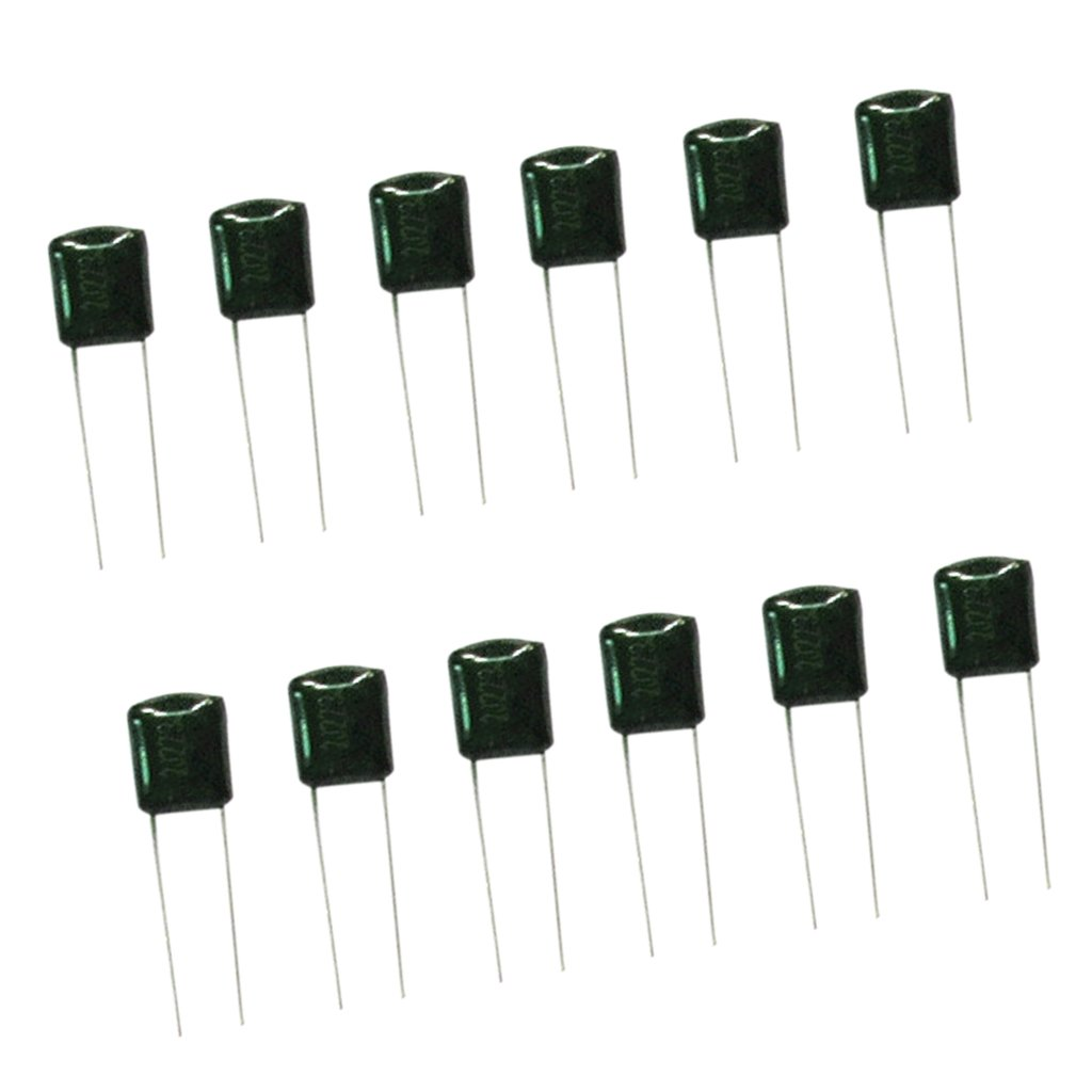 MagiDeal (0.001uf-0.22uf) 160pcs 16values Polyester Metal Film Capacitor Assorted Kit