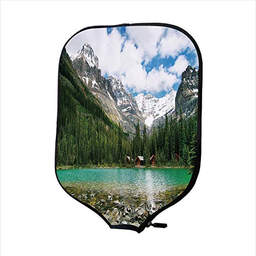 iPrint Neoprene Pickleball Paddle Racket Cover Case,Landscape,Canada Ohara Lake Yoho National Park with Mountains Nature Scenery Art Photo,Multicolor,Fit for Most Rackets - Protect Your Paddle for $<!--$9.99-->