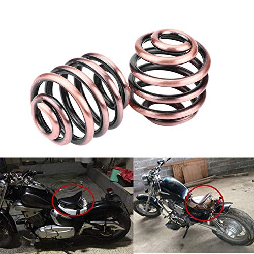 Andifany 2 Pieces Seat Springs Motorcycle Parts Barrel Coiled Solo Seat Springs Mount Spring for Harley Chopper Bobber Steel Motorcycle Accessories