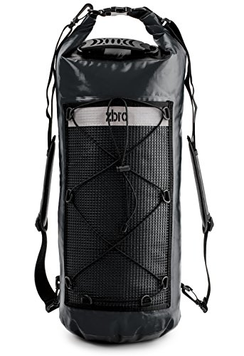 Matte Stripe (ZBRO Waterproof Dry Bag with 2 Pockets, Padded Straps and Reflective Stripe (Matte Black, 30L))