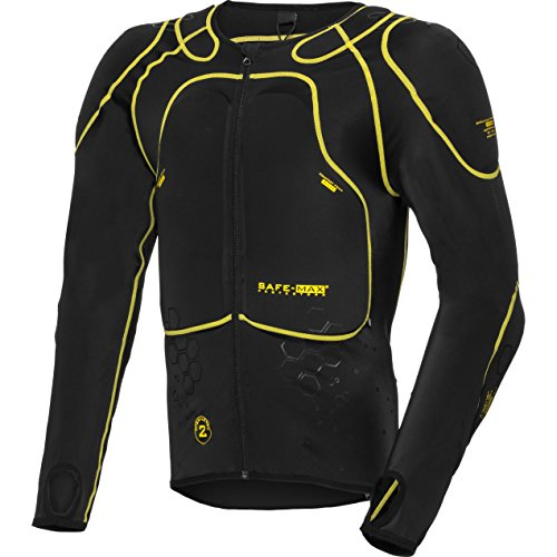 Safe Max® Protektorenjacke Motorrad Protektorenhemd Unterziehjacke mit Protektoren, Level 2, extrem funktional, Schulter…