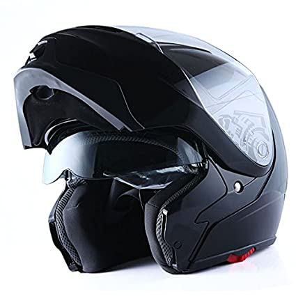 410913aa Amazon.com: 1Storm Motorcycle Street Bike Modular/Flip up Dual Visor/Sun  Shield Full Face Helmet (GlossyBlack, Large): Automotive