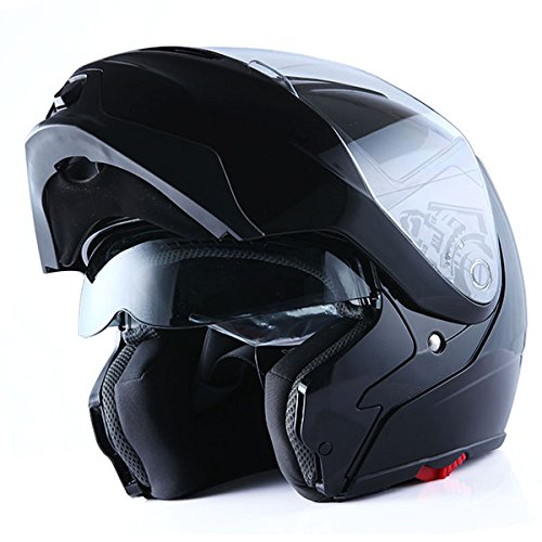 1Storm Motorcycle Street Bike Modular/Flip up Dual Visor Sun Shield Full Face Helmet
