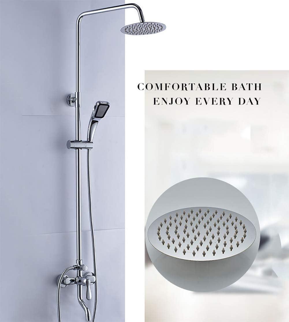 304 Stainless Steel Black Shower Set with Shower Head Adjustable Slide Bar
