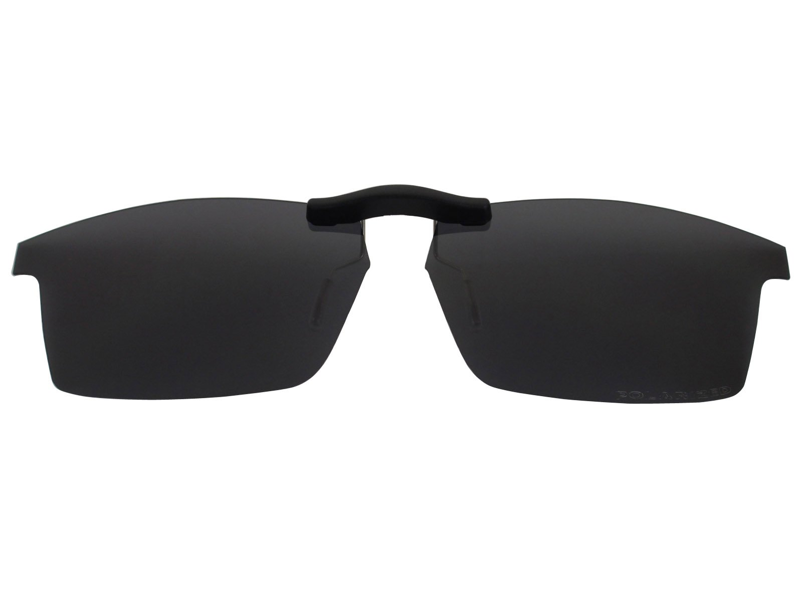 Custom Fit Polarized CLIP-ON Sunglasses For Oakley Pitchman (53) OX8050 53X18 Black