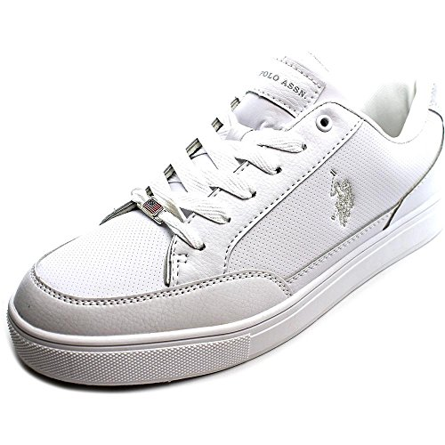 U.S. POLO ASSN Cale H Men US 10 White Sneakers