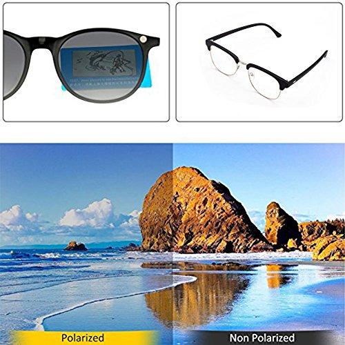 de clip lunettes lentilles de Lunettes avec en lunettes cadre métal 6 soleil GreeSuit magnétique on de de éb01eM0sW5o1sement 1 optiques anti en clip soleil on lunettes HzBOqt