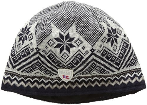 Dale of Norway Unisex Glittertind Hat Navy/Off White/Light Charcoal/Mountainstone - Norway Light Blue