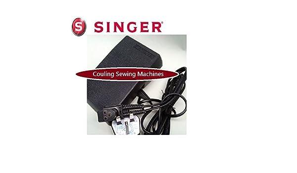 Pedal de control original Singer para máquina de coser con enchufe de 3 pines tipo D: Amazon.es: Hogar