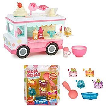 Num Noms Lipgloss Truck Playset with Freezie Pops S2 Scented (includes motorized Nom: Icy