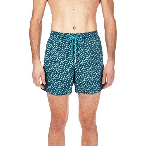 6a5fe0d870 Vilebrequin Men's Moorea Micro Turtles Swim Trunk, EMBRUNS, ...