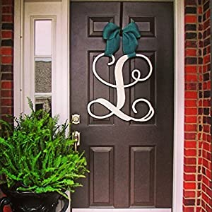 Custom Monogram SINGLE Letter Wooden Door Hanger Wreath 61