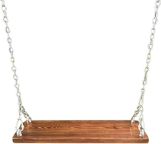 SMLCTY Cadena de hierro oscilación de madera maciza de jardín, balancín de madera exterior, Columpio for