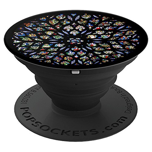 Sainte Chapelle Paris France Rose Window - PopSockets Grip and Stand for Phones and Tablets