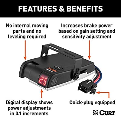 CURT 51120 Discovery Electric Trailer Brake Controller, Time-Based: Automotive