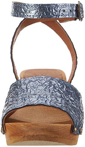Sanita Ladies Birka Square Flex Sandalo Con Cinturino Sandali Blu (cielo)