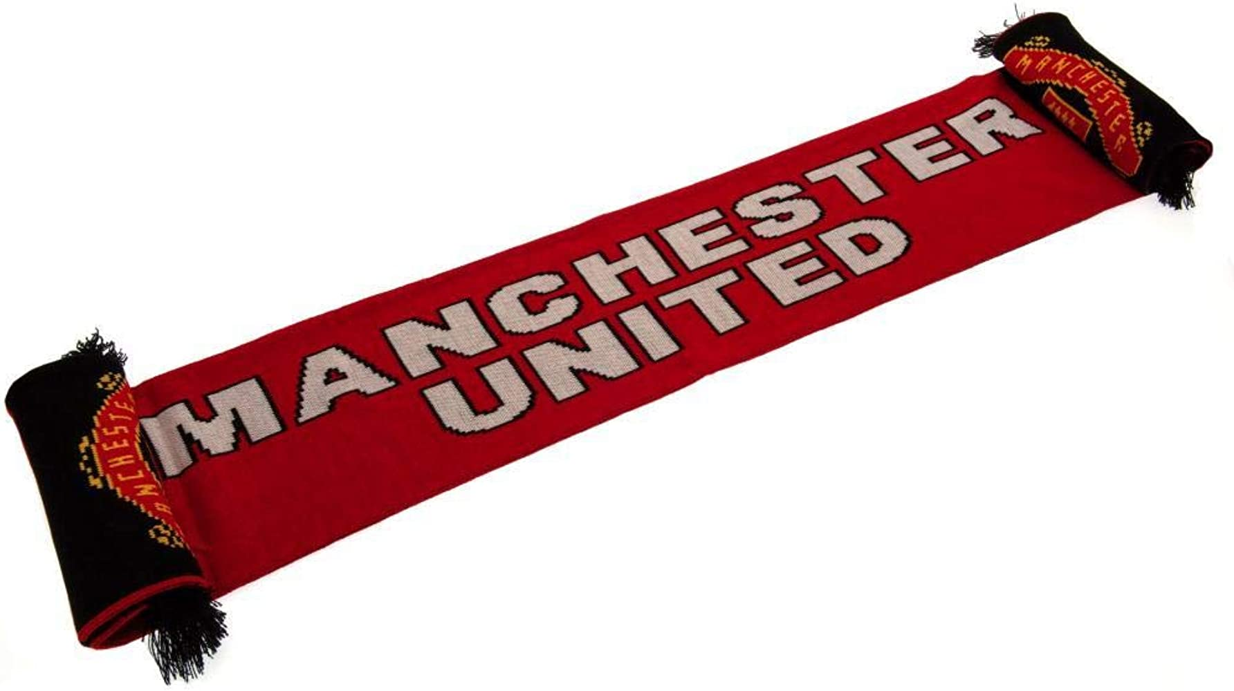 Manchester United FC Official Soccer Gift Glory Glory Man Utd Stripe Scarf
