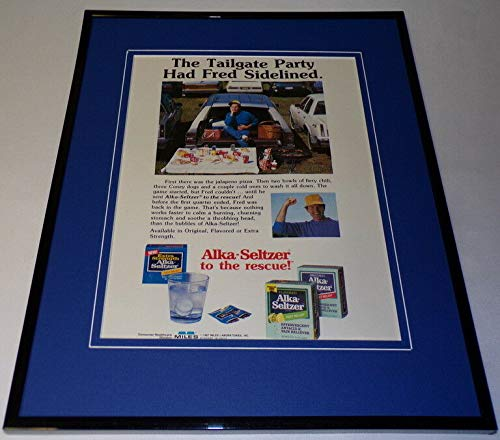 1987 Alka Seltzer to the Rescue Framed 11x14 ORIGINAL Advertisement