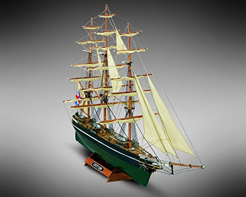 """Mamoli MM08 - Cutty Sark - Pre-Carved Wooden Hull Ship Model Kit - Scale 1/250 Length 342mm (13"""")"""