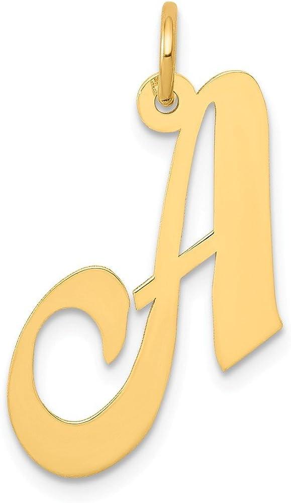 Mia Diamonds 14k Yellow GoldD Script Initial Pendant