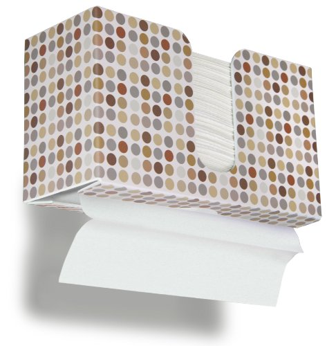TrippNT 51339 Retro Dots Plastic Dual-Dispensing Paper Towel Holder, 10 7/8