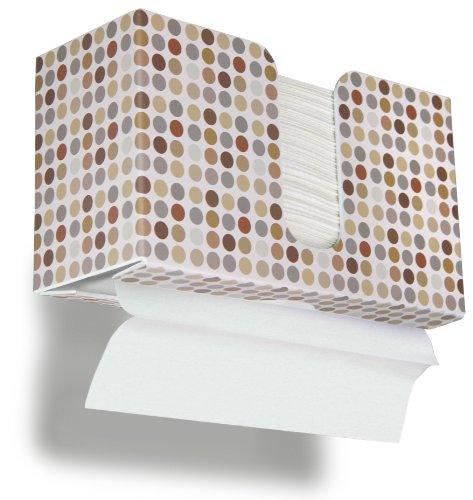 TrippNT 51339 Retro Dots Plastic Dual-Dispensing Paper Towel Holder, 10 7/8