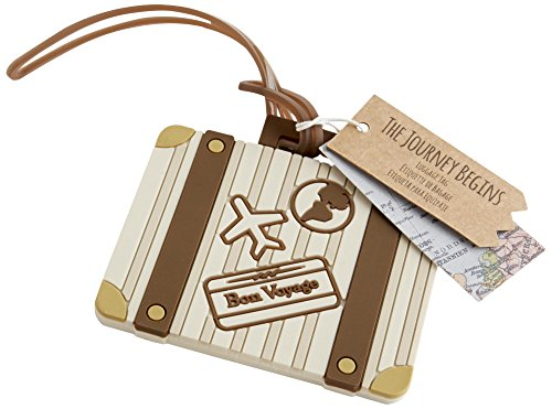 "Kate Aspen ""Let the Journey Begin"" Vintage Suitcase Luggage Tag"