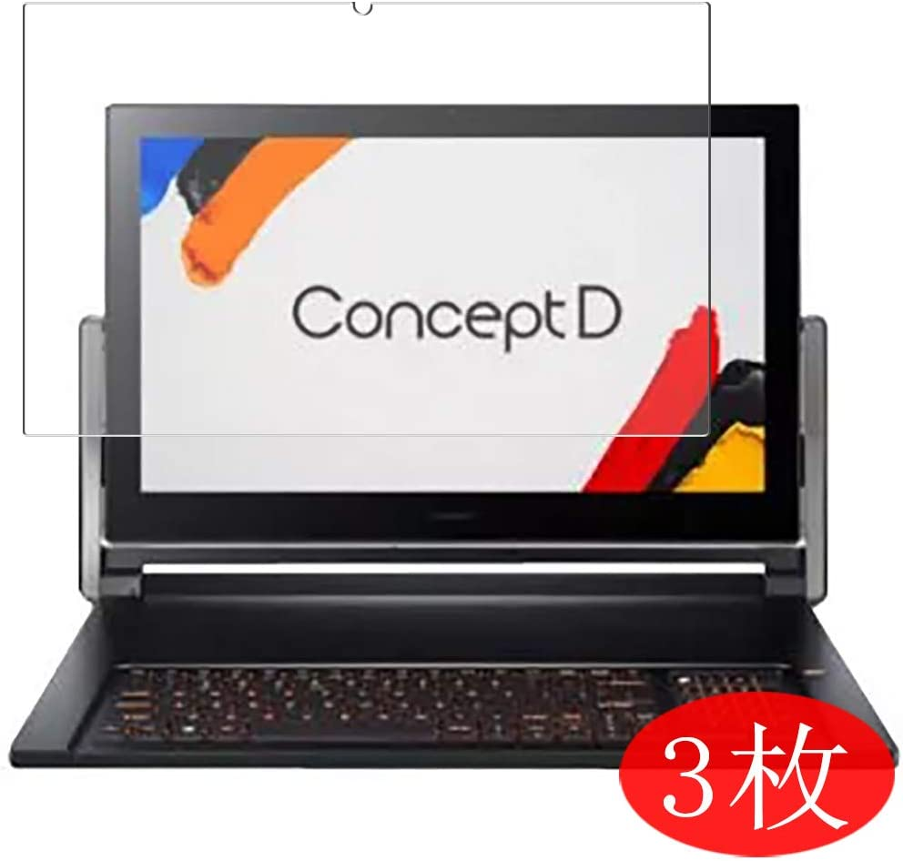 """【3 Pack】 Synvy Screen Protector for Acer ConceptD 9 CN917-71 17.3"""" TPU Flexible HD Film Protective Protectors [Not Tempered Glass]"""