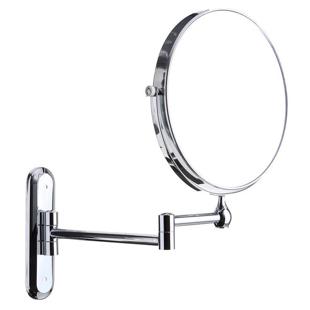 GF Wood Cosmetic Double-Sided 10X Magnifying Mirrors Chrome Round 8'' Wall Mirror Foldable Vanity Mounted Bathroom Toilet Mirror Shaving by GF Wood (Image #9)