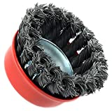 Forney 72757 Wire Cup Brush, Knotted with