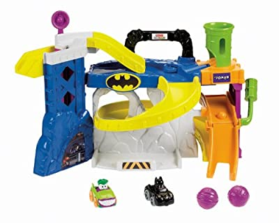 Fisher-price Little People Wheelies Super Friends Race And Chase Batcave from Fisher-Price