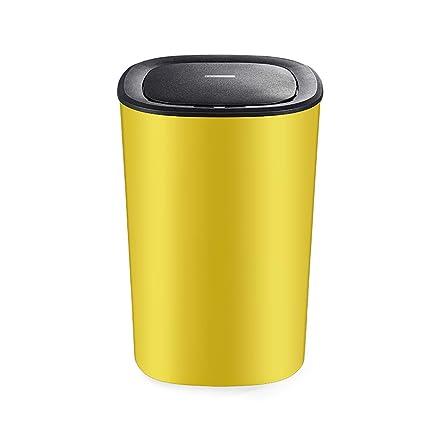 GZ Cubo de Basura de plástico automático 9L con Sistema de Control de olores Tapa Grande