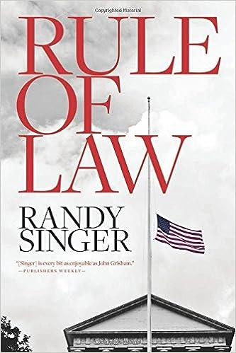 Amazon Rule Of Law 9781496418159 Randy Singer Books
