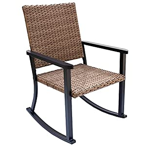 C-Hopetree Outdoor Natural All Weather Wicker Rocking Chair