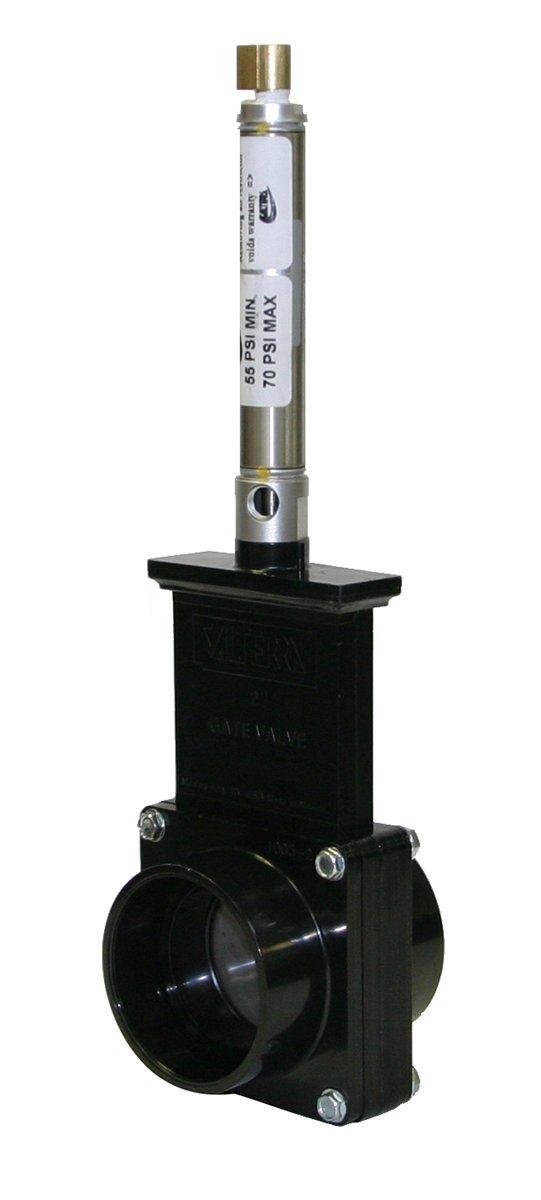 Valterra 9201S ABS Gate Valve, Black, 2'' Slip, Metal Air Cylinder