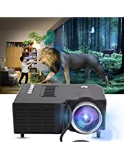 1920X1080 Portable Projector, HD Video Projector Support MKV/AVI/MOV / MP4 / TS/ASF/FLV/PMP