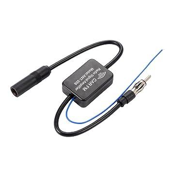 Antena Coche Amplificador Radio Antena en línea de automóvil Radio aérea Amplificador de señal AM / FM 48-860MHz MA799: Amazon.es: Coche y moto