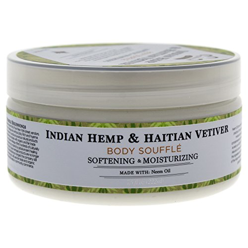 Nubian Heritage Indian Hemp & Haitian Vetiver Body Souffle, 7.5 Ounce