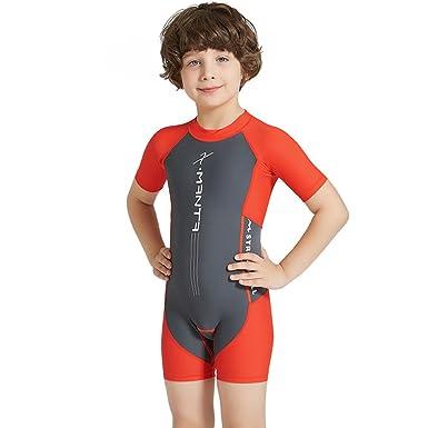 02b6764f3f Best for All Boys Girls One Piece Rash Guard Swimsuits Kids Short Sleeve  Sunsuit Swimwear UPF