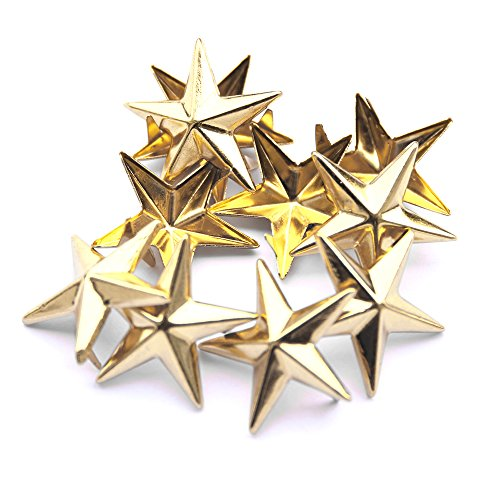 Footwear Duty Heavy (50 Pieces Star-Shaped Studs With Spikes - Hand Pressed 5Mm Nail Head Rivets - Suitable For Leather Crafting, Decorating Clothes, Jackets, Belts, Footwear, And Bags)