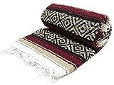 Mexican Blanket XL 78''x52'' (Burgundy)